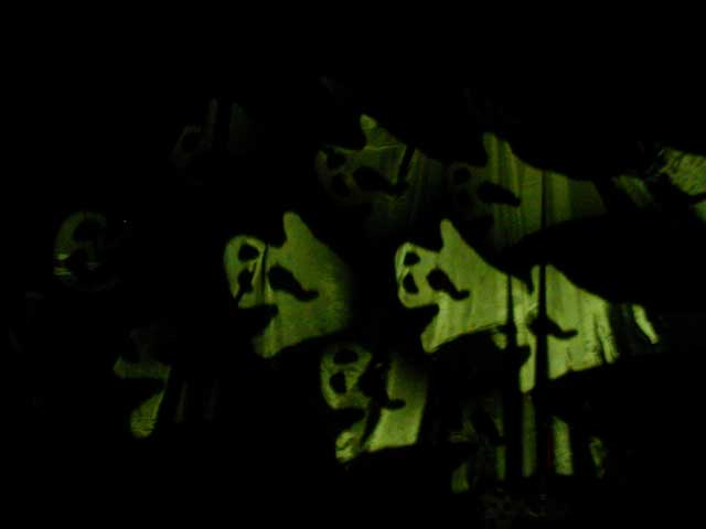 Haunted house ghost projection